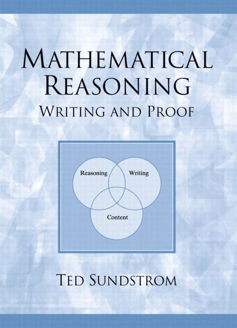 mathematics proofs from the inside out books sundstrom mathematical reasoning writing and proof pearson