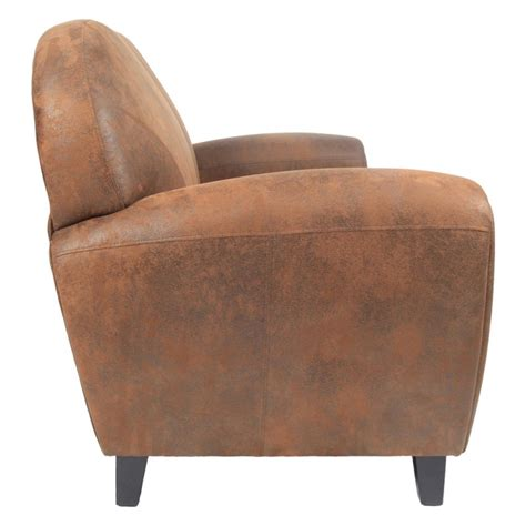 canap 233 club 2 places en microfibre marron trendy homes