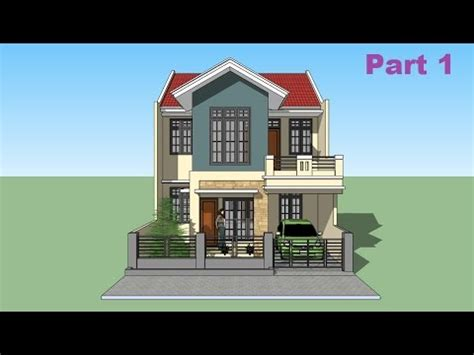 house design sketchup youtube sketchup tutorial house design part 1 youtube