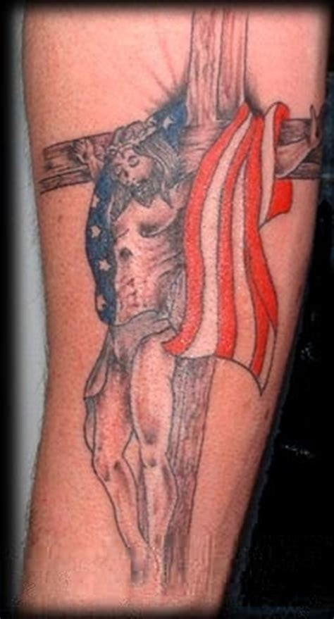 american flag cross tattoos 55 heroic american flag tattoos