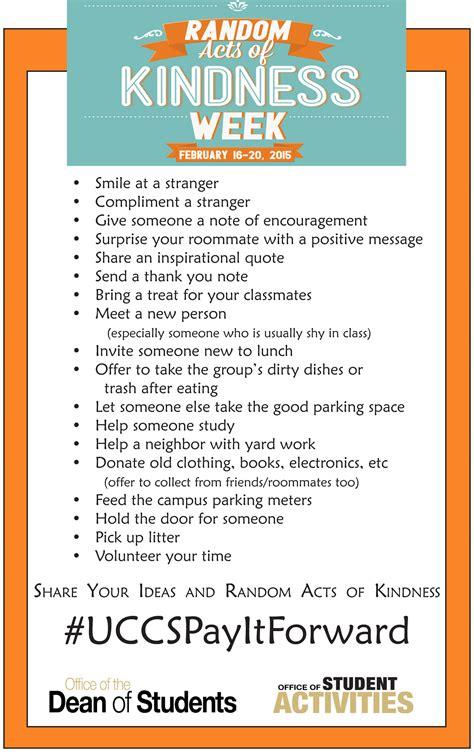 Random Acts Of Kindness Essay Exles by Random Act Of Kindness Essay
