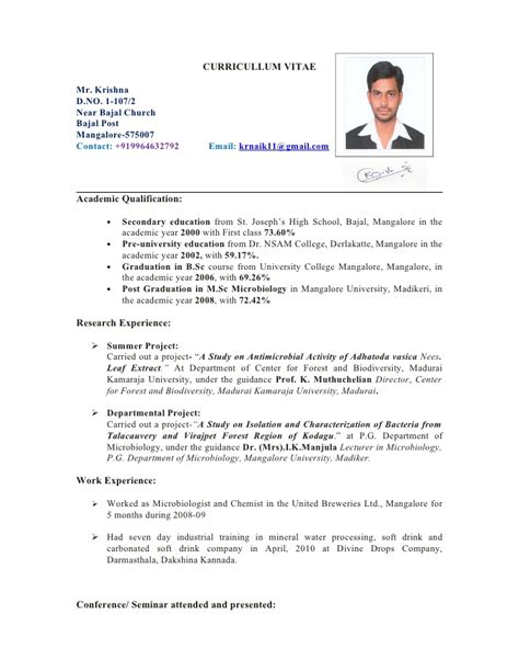 cv template nz krishna cv 1