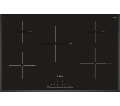 electric induction hob bosch buy bosch piv851fb1e electric induction hob black free delivery currys