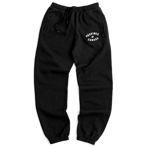 Canada Search Email Province Sweatpant Black Unisex Province Of Canada