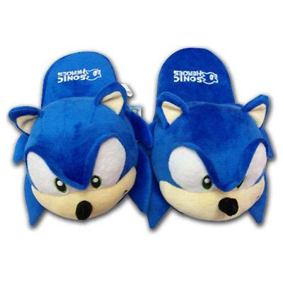 sonic slippers sonic the hedgehog plush warm blue slippers indoor home