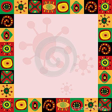 african pattern frame frame with abstract pattern in african style stock vector