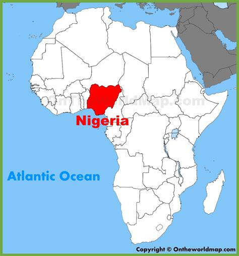nigeria on a world map nigeria on map adriftskateshop