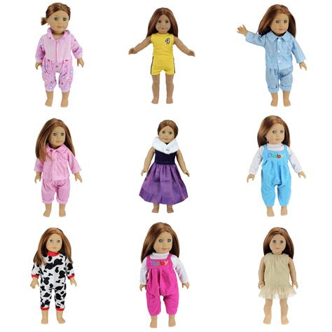 10x Kid Mini Dress Dolls Fashion Clothes Mixed Style For Pa buy wholesale 12 inch doll clothes from china 12