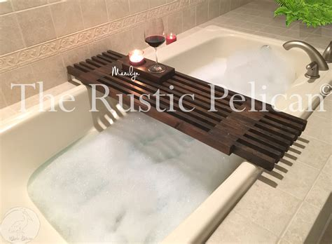 bathtub tray reclaimed wood tub caddy rustic bathtub tray barn wood bathtub
