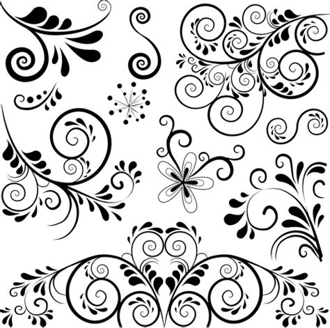 pattern on vector black floral ornament pattern vector vector floral