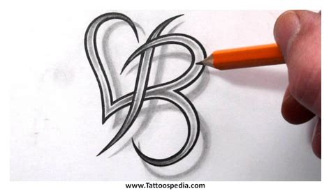tattoo of alphabet b letter b tattoos designs 5