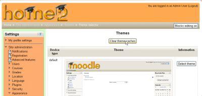 moodle theme cache instalando un tema nuevo moodledocs