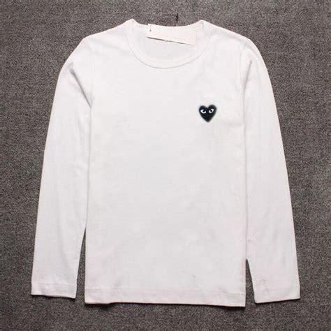 Cdg Play T Shirt top s comme des garcons cdg play black sleeve t shirts ebay
