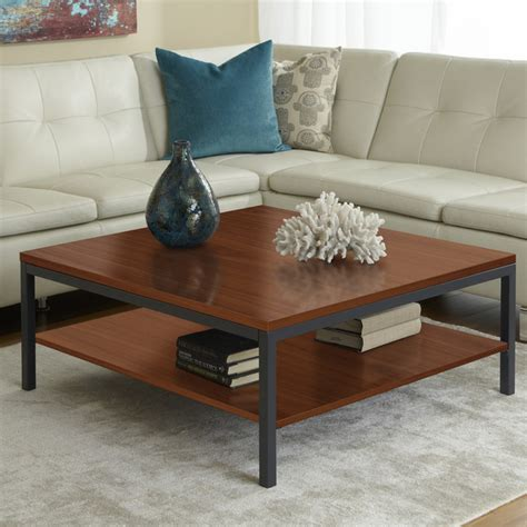Parsons Square Coffee Table Parsons Edition Square Coffee Table With Shelf In Cherry Modern Coffee Tables New York