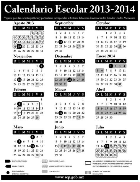 Calendario 2014 Mexico Dan A Conocer El Calendario Escolar De La Sep 2013 2014