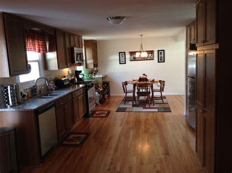 open floor plan galley traditional kitchen  york