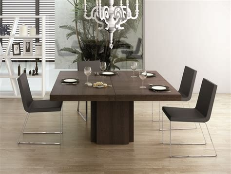 Dining Tables And Chairs Uk Temahome Dusk Square Dining Table In Chocolate Oak Veneer