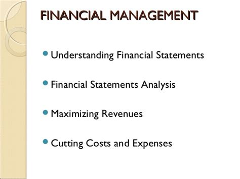 Financial Analysis Mba Management by Financial Management Term Course For Non Finance