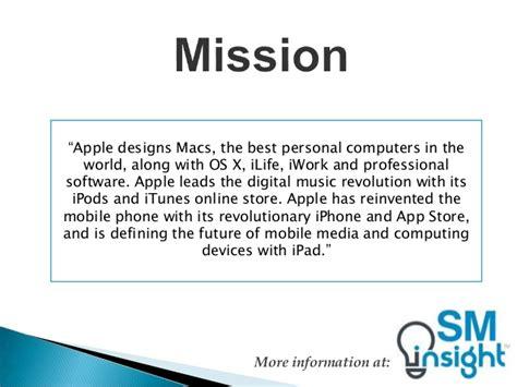 mission statement of samsung company apple mission statement