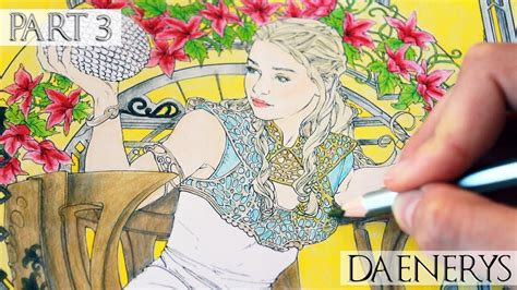 thrones coloring book completed daenerys targaryen of thrones coloringbook part 3