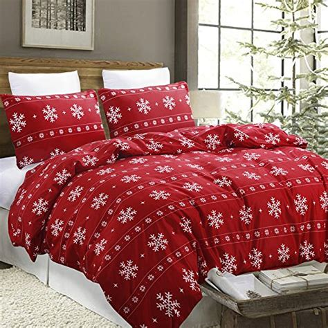 christmas pattern bedding vaulia lightweight microfiber duvet cover set snowflake