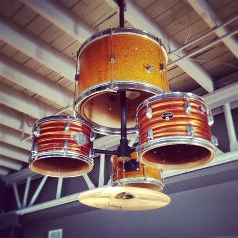 Drum Set Light Fixture Wonderful Ways To Repurpose Drums In Home Decor