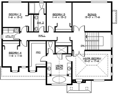 family home plan large family home plan with options 23418jd 2nd floor