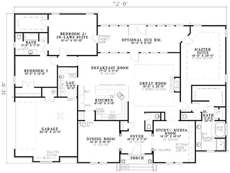 one level house plans with two master suites house plans with 2 master suites click to view house plan main floor plan