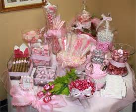 pink baby shower candy table ideas