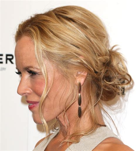 updo over 40 maria bello s messy updo haute hairstyles for women over
