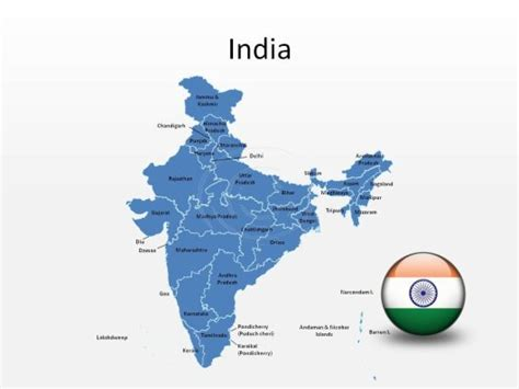 Download High Quality Royalty Free India Powerpoint Map Shapes For Powerpoint From Presentationpro Editable Map Of India