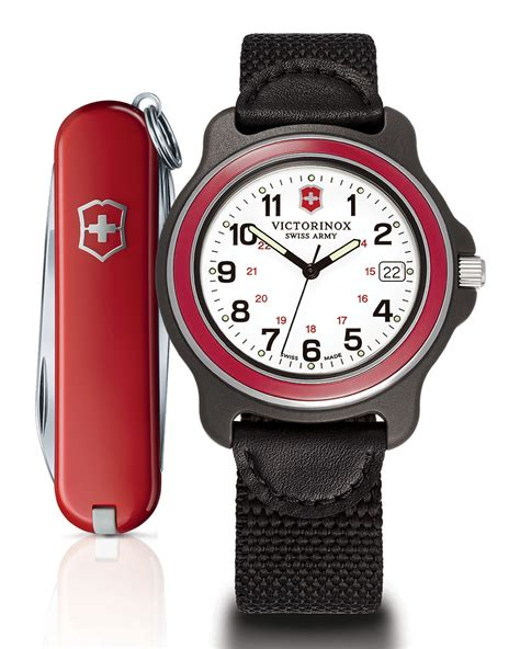 Swiss Army Original Sa2278 Leather Krem Black victorinox mens original xl in black for lyst