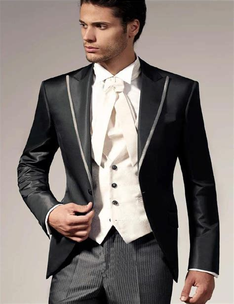 2018 Italian Wedding Suits For Men Jacket Pant  Vest Prom