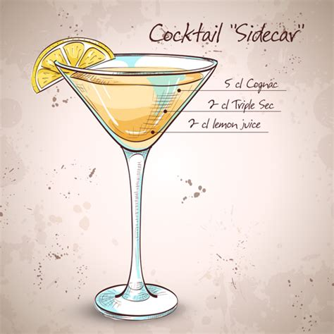 cocktail drawing cocktail poster drawing vectors 09 vector cover