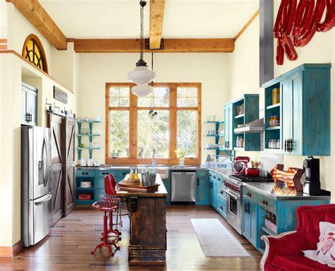 retro vintage red  turquoise kitchen decor interiors