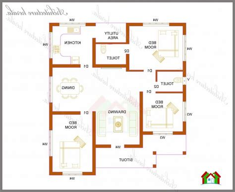 Home Design For 1200 Square Feet by 1200 Sq Feet House Plans Kerala Home Design And Style
