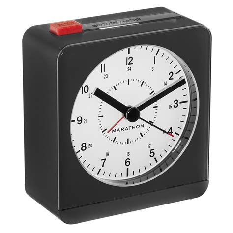 marathon analog desk alarm clock marathon classic silent sweep alarm clock auto night light