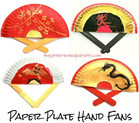 china crafts for painted paper plate fans great for new year