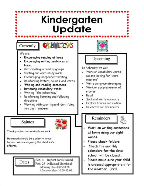 january newsletter template best photos of february preschool newsletter sles