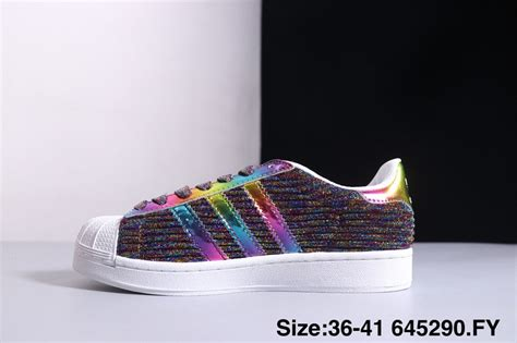 discount adidas superstar colorful multi color womens