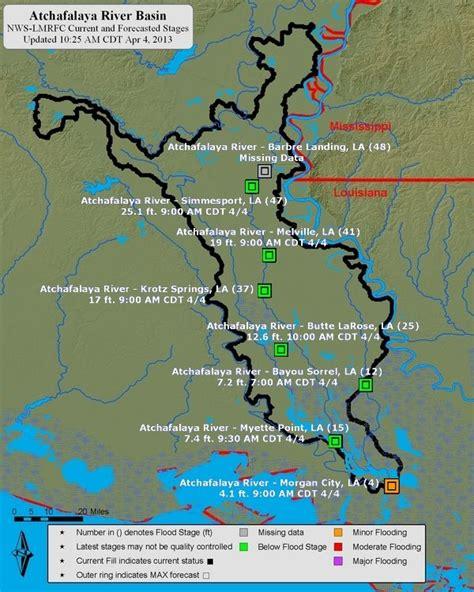 louisiana forecast map atchafalaya river basin