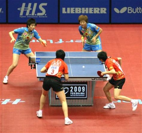 table tennis doubles chionships 2009 table tennis womens doubles