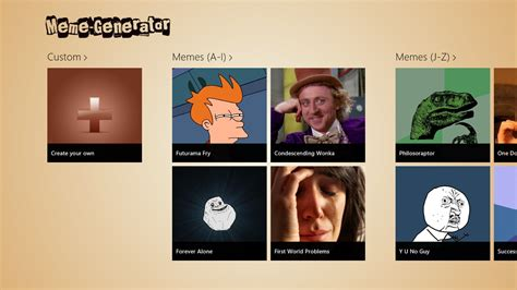 Custom Meme App - meme generator for windows 8 windows and windows phone apps