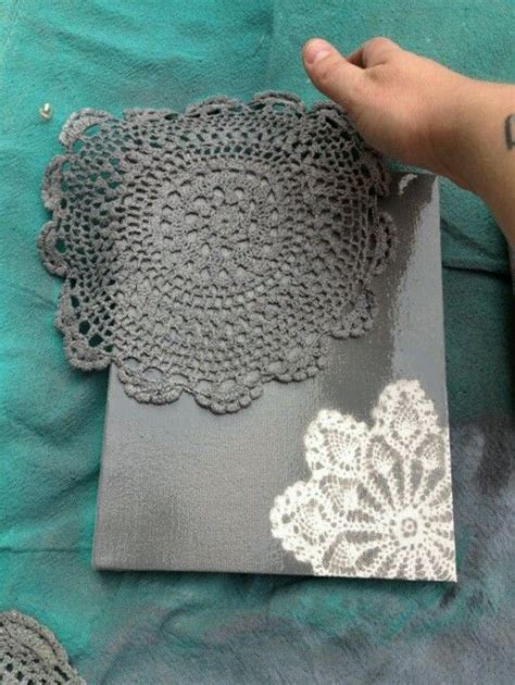 spray paint lace a canvas for designs diy paint colors creative and
