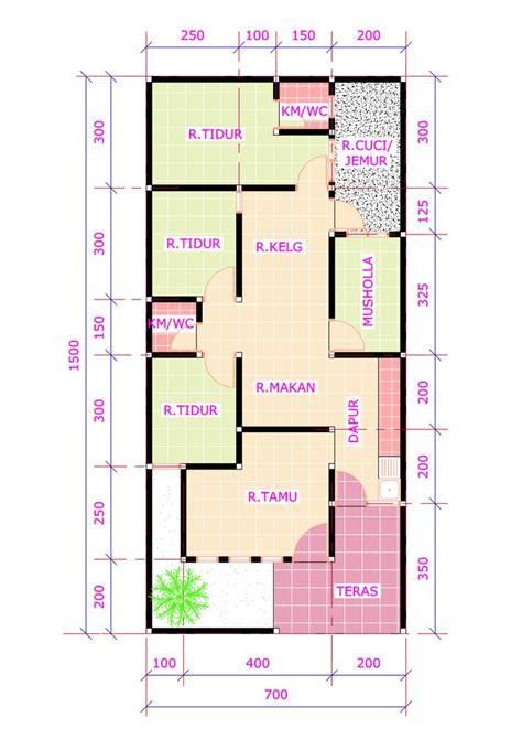 desain kamar ukuran 3x3 20 desain rumah 3 kamar tidur 1 mushola desain rumah
