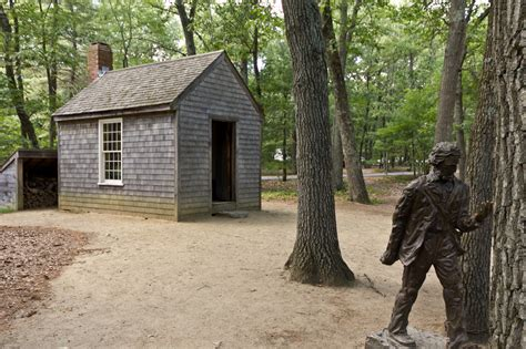 thoreau cabin file replica of thoreau s cabin near walden pond and his