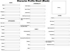 fictional character bio sheet writing pinterest wvuuhzvp