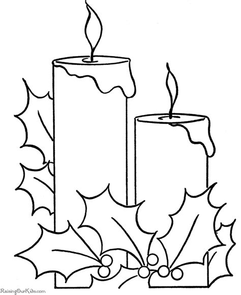 christmas coloring pages christmas candles