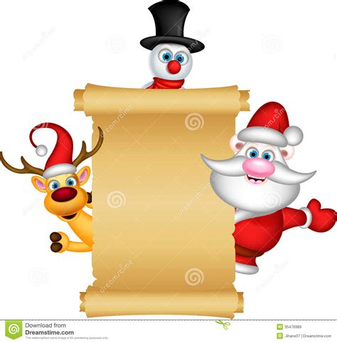 santa claus reindeer and snowman royalty free stock images