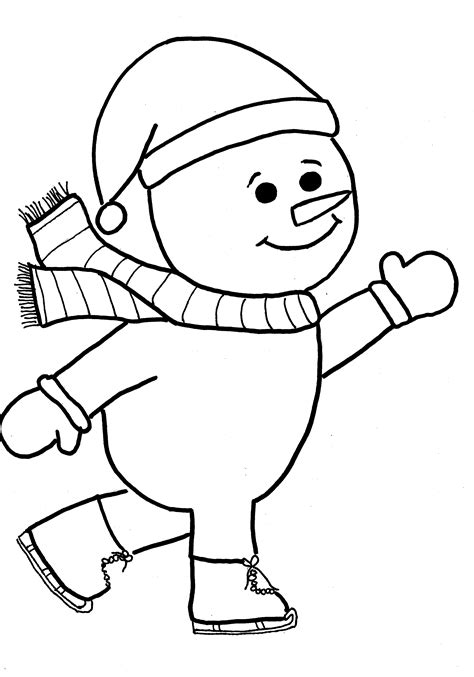 Snowman Coloring Outline Coloring Pages Printable Snowman Coloring Pages